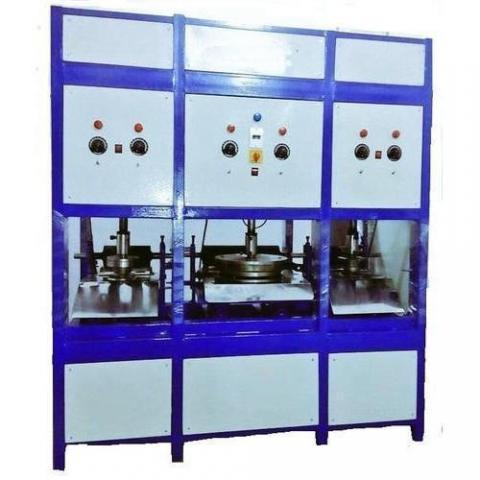 Semi Automatic Triple Die Machine (Hydrolic Model)